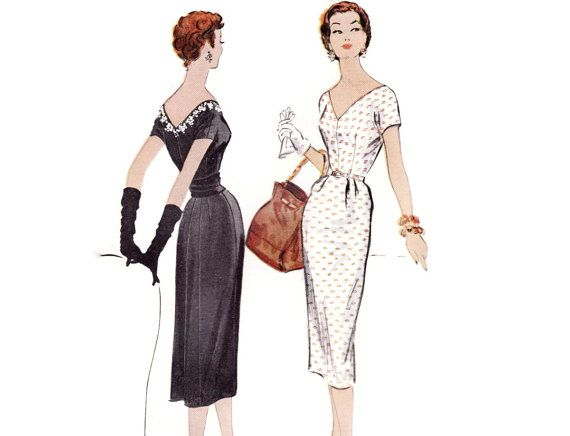 1950s Wiggle Dress Pattern McCalls 9818 Sexy by FriskyScissors ...