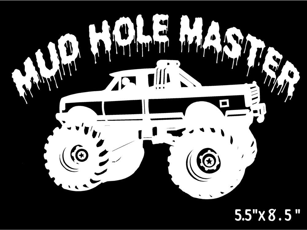 Details about Monster Truck Decal Mud Hole Master car