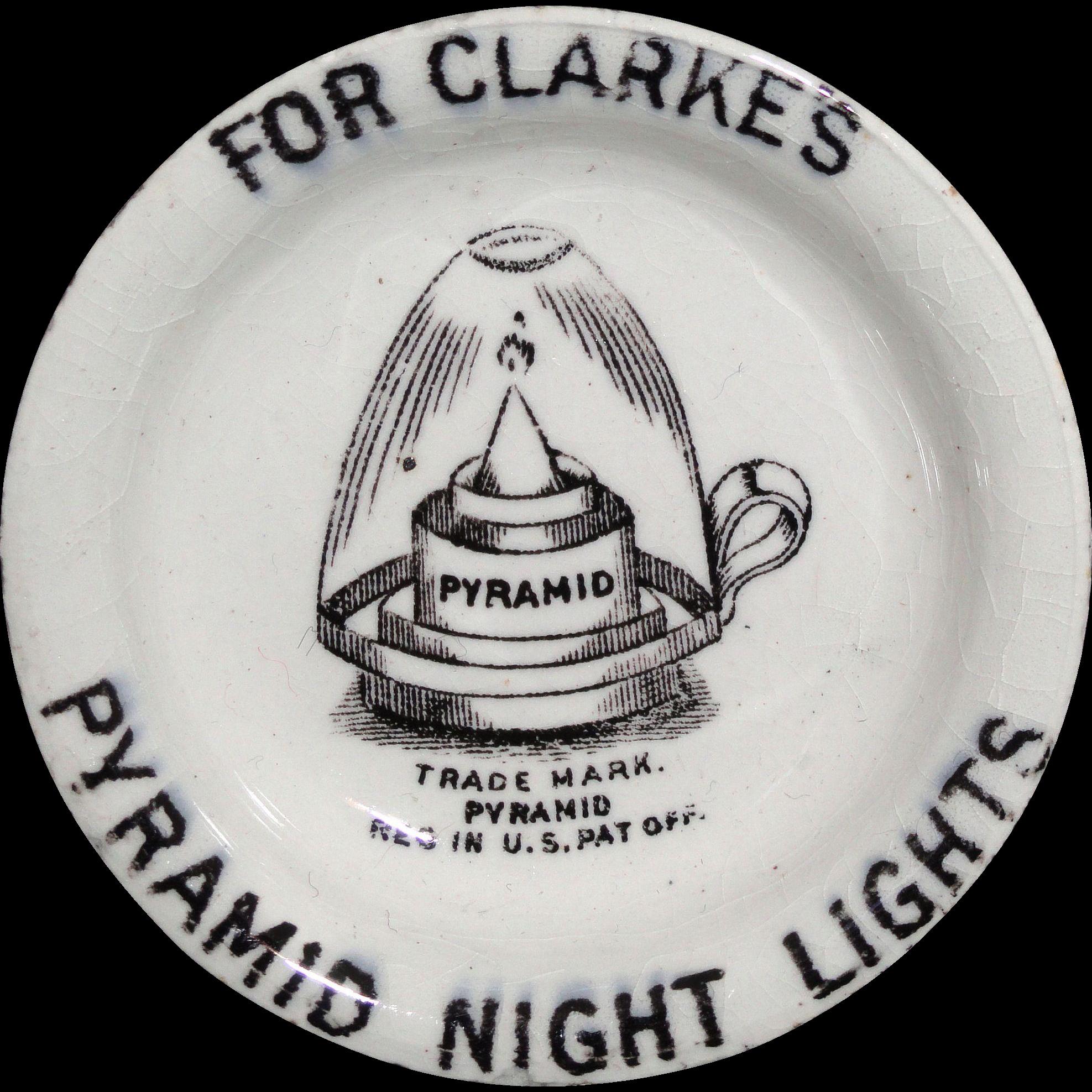 Victorian night lamps - Genuine Victorian Transfer Printed Pyramid Night Light Fairy Lamp Stoneware Liner Staffordshire England C 1895