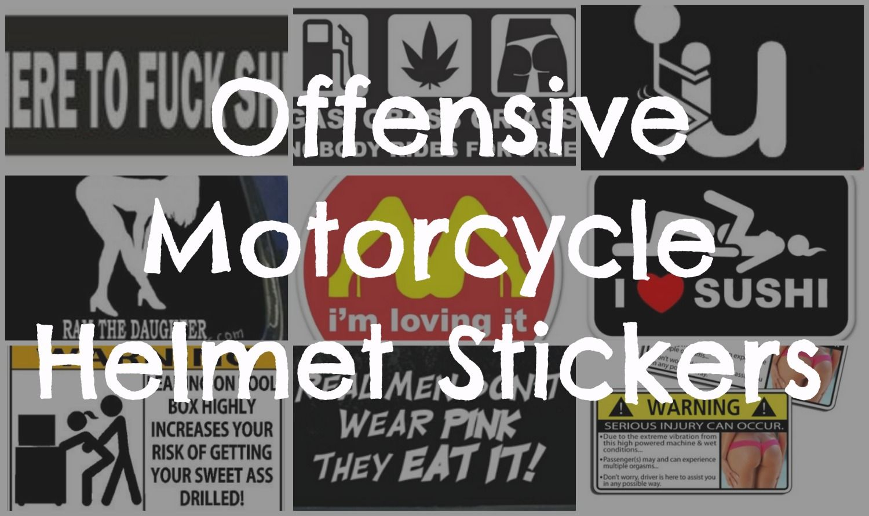 Offensive Motorcycle Helmet Stickers My Top Motorcycle - Pink motorcycle helmet decals
