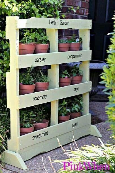 Herb garden from anbold pallet