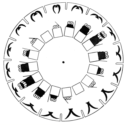 Phenakistoscope Template Printable Sketch Coloring Page