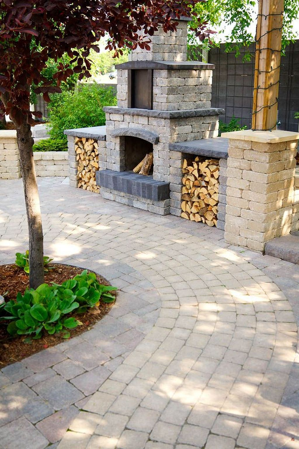stone oasis circle firepit in desert buff outdoor fire pits and