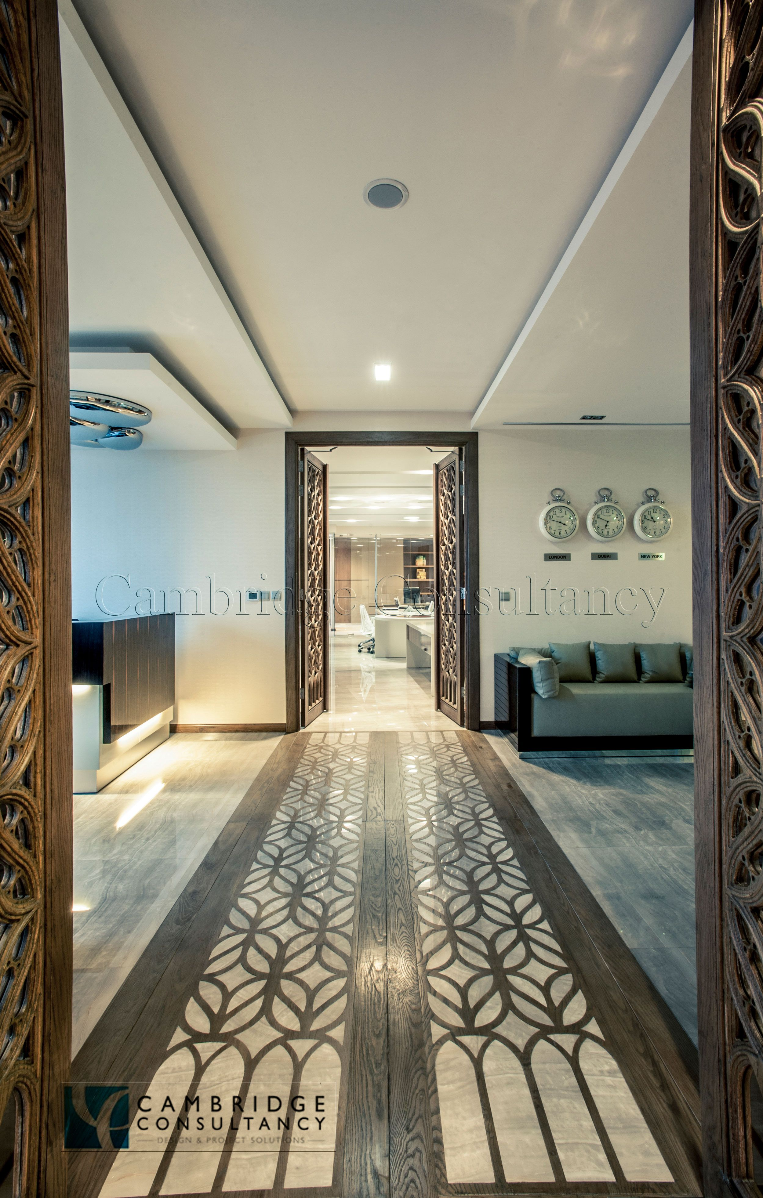 Hills project office design fitout office high end for Office design uae
