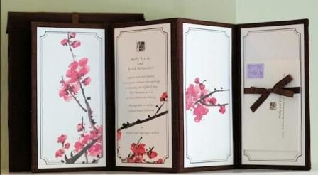 Japanese Wedding Invitation Card