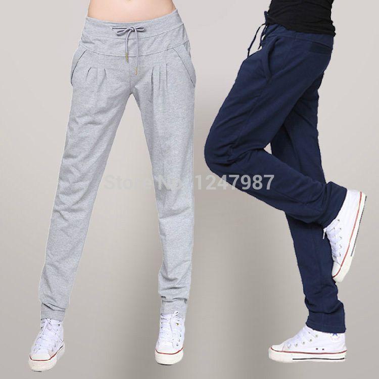 Encontrar Más Pantalones y Capris Información acerca de Caliente venta 2014  nuevo otoño suelta pantalones deportivos mujer harem ocasional largo  pantalones ... c197e8ff5b4