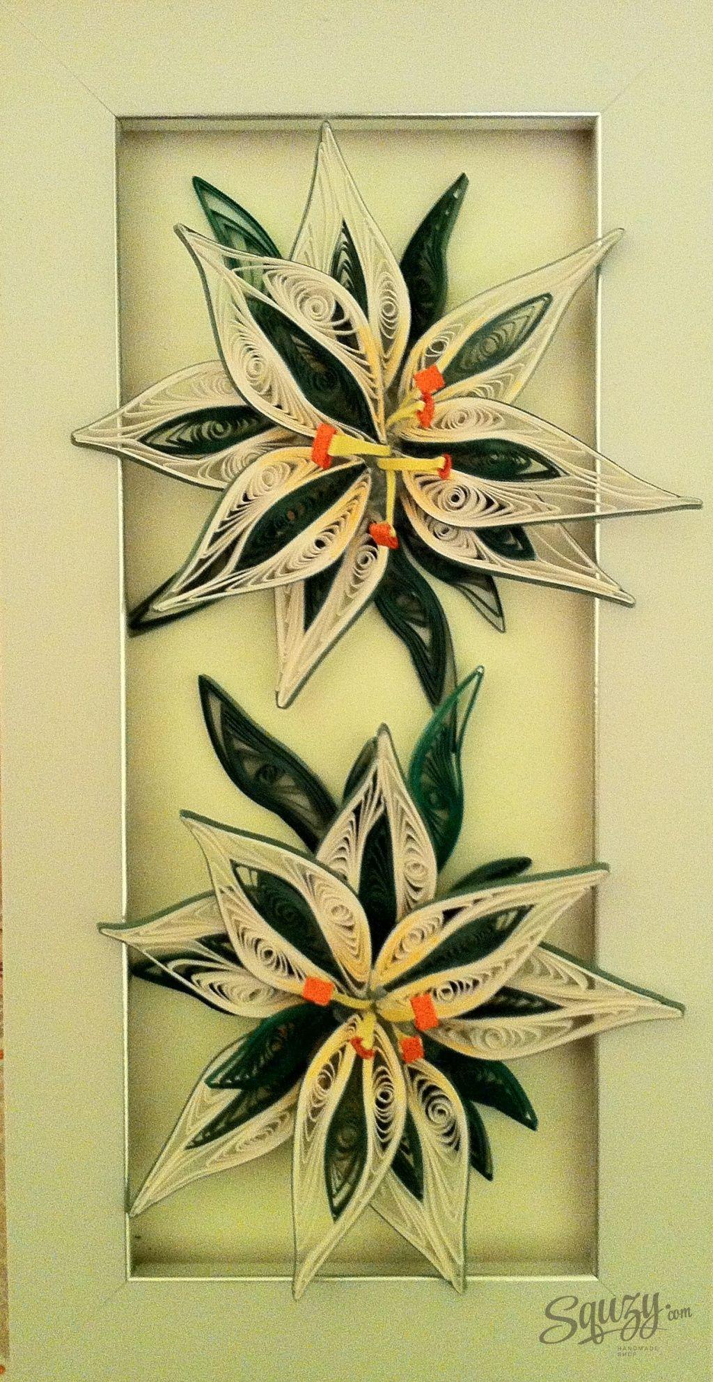 Мастер класс по квиллингу: Цветущие лилии.