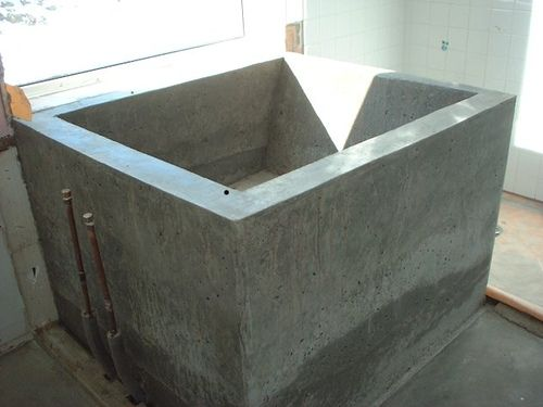 japanese soaking tub outdoor diy. DIY tutorial homemade concrete ofuro  Ofuro Love Pinterest Soaking tubs
