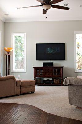 All Wood Floors Or Part Carpet Living Room Wood Floor Dark