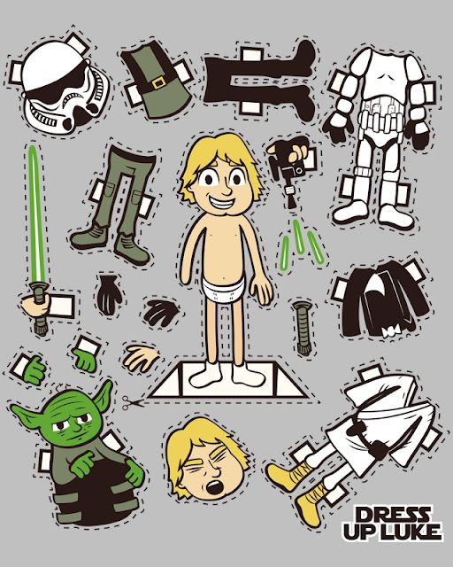Luke Skywalker paper doll