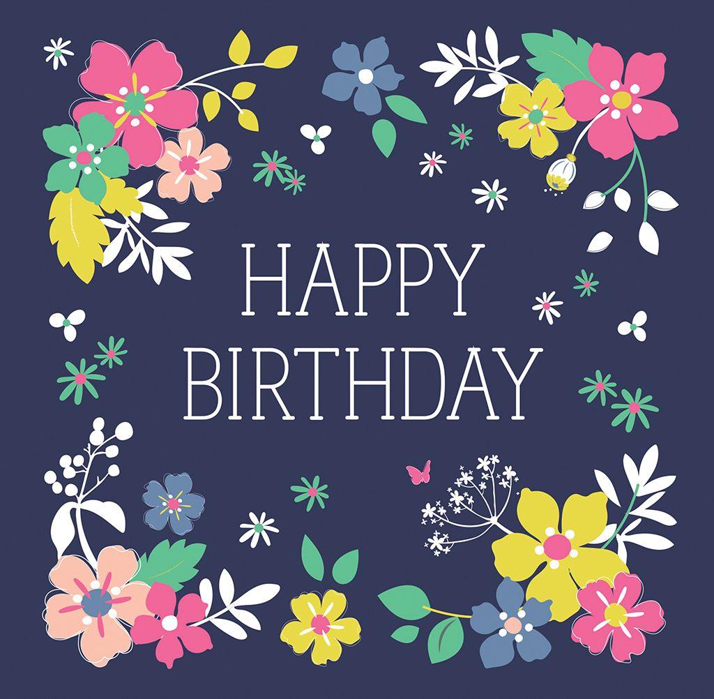 Ditsy Garden Birthday Card Happy birthday cards, Happy