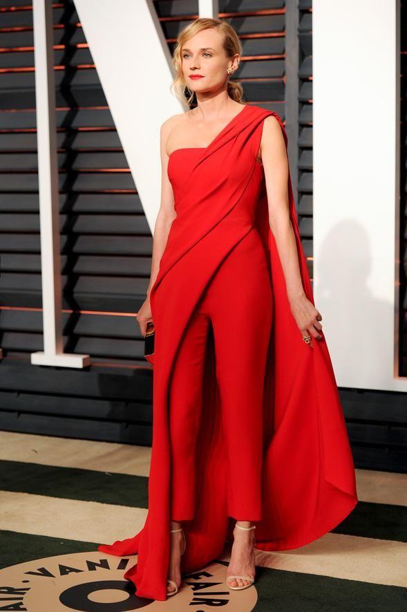 Oscars Fashion - Academy Awards After-Parties, Celebrities - Diane Kruger in Donna Karan Atelier