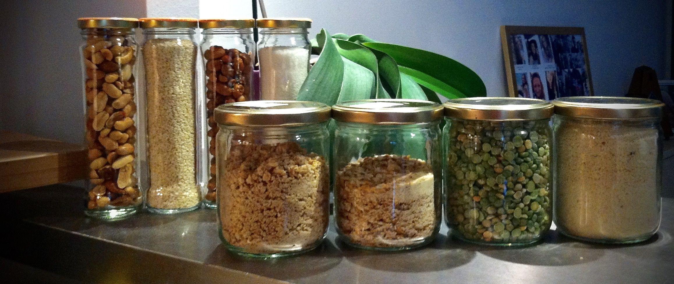Disposición - Prática Arrangement- Convenient Rangement - Pratique Bocaux transformés - DIY Cuisine