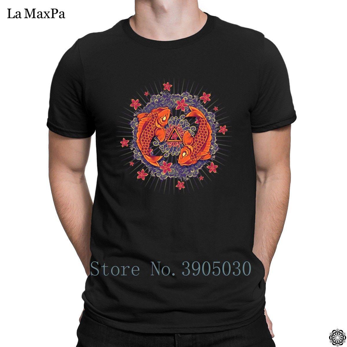 0df5354cca7 T shirts with mandalas - Men T-Shirt Koi Mandala T Shirt New Men - Tshirt  for mystic people