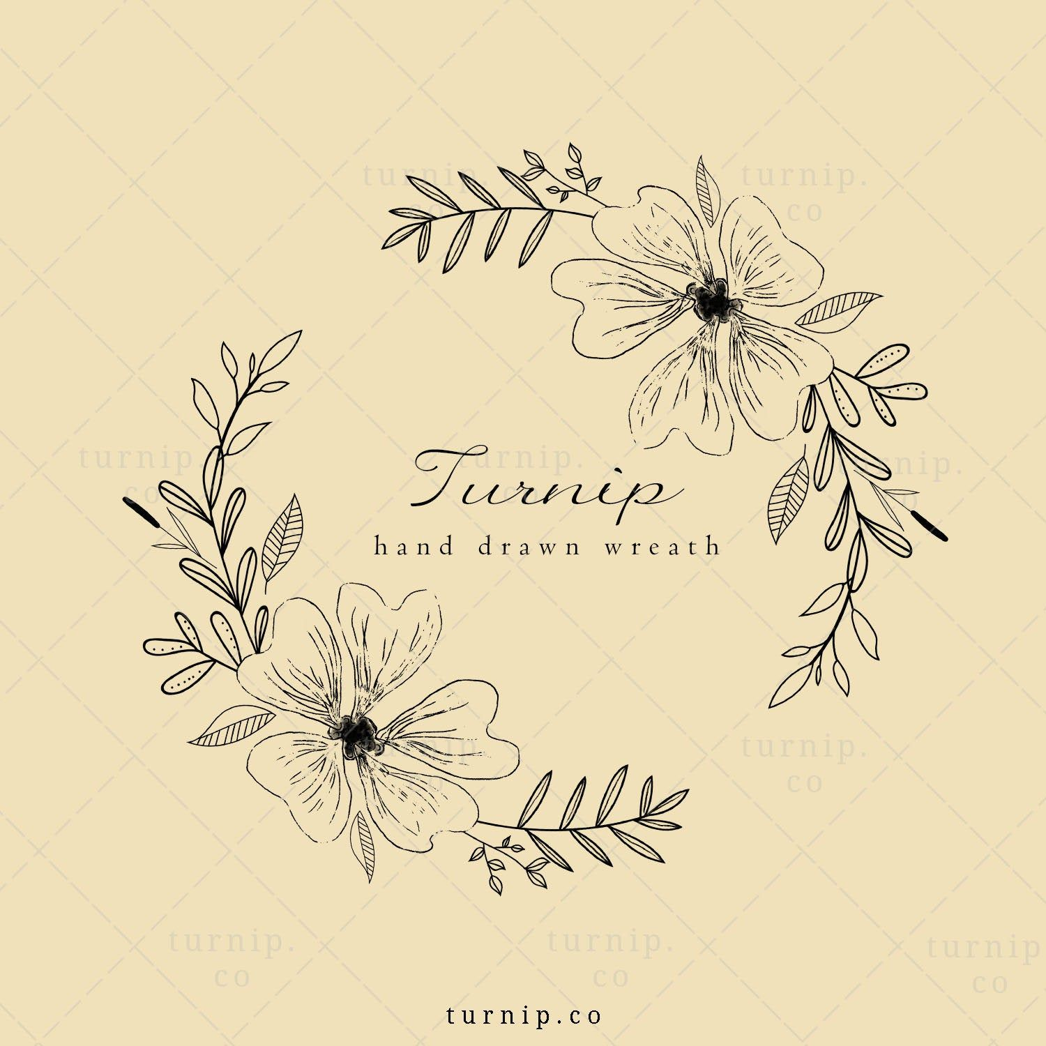 Floral Wreath Clipart Black And White Flower Clipart Leaf Wreath Clipart For Wedding Logo Coloring Pages Fairy Dance Wreath Png Floral Wreath Clipart Flower Clipart Black Flowers