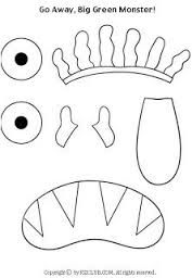 Go Away Big Green Monster Color By Number Sheet Halloween Literacy Speech Big Green Monster Green Monsters Monster Activities