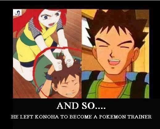 Pokémon and Naruto crossover    Brock went to the ninja academy! And