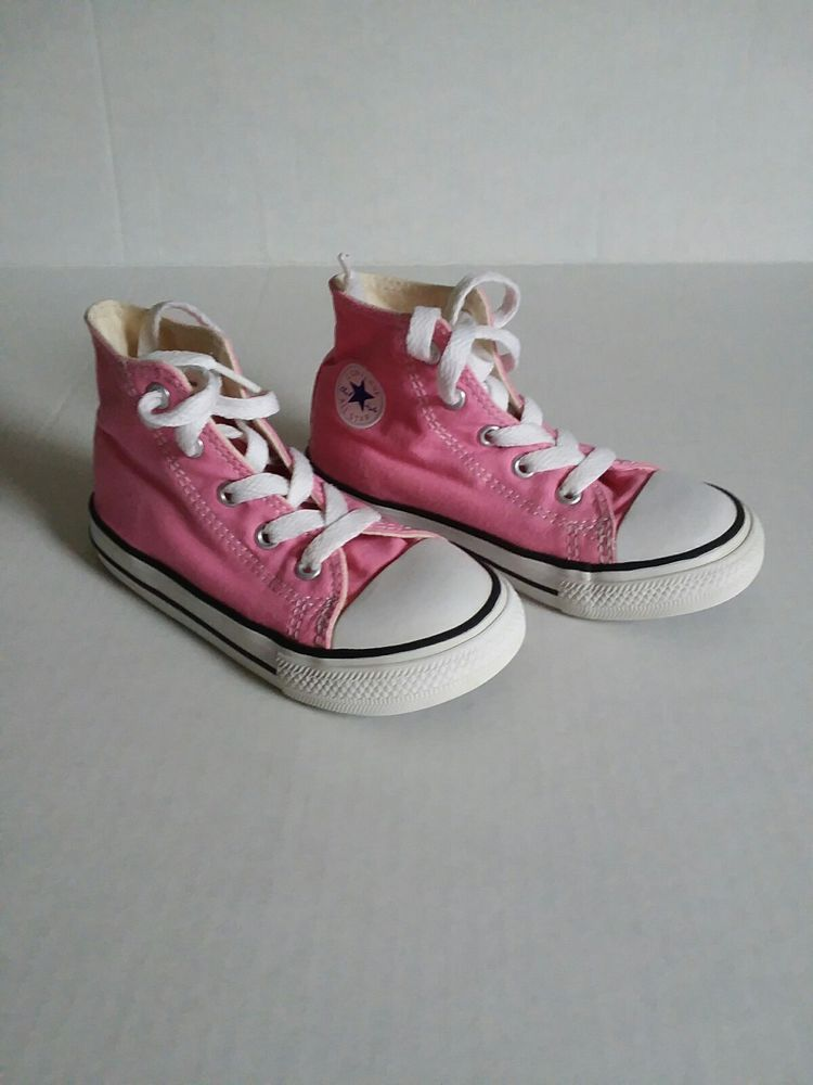 aa01805b6f6fff Converse CHUCK TAYLOR ALL STAR Infant Toddler Pink Canvas High Top Sneaker  Shoes  fashion  clothing  shoes  accessories  babytoddlerclothing   babyshoes ...