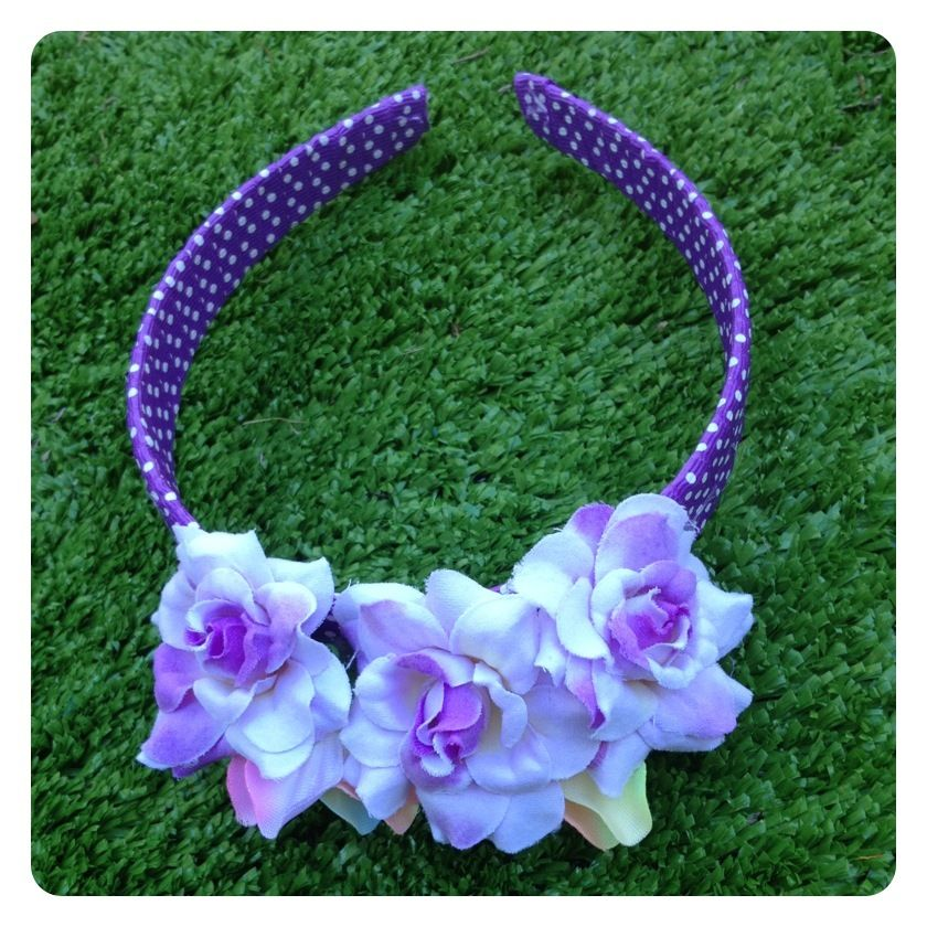 MIA REVERSIBLE FLORAL HEADBAND by Sweet As Candy Vintage
