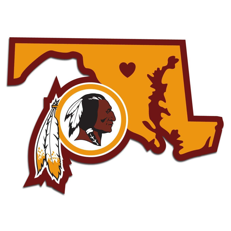 Washington Redskins Home State Decal Washington redskins