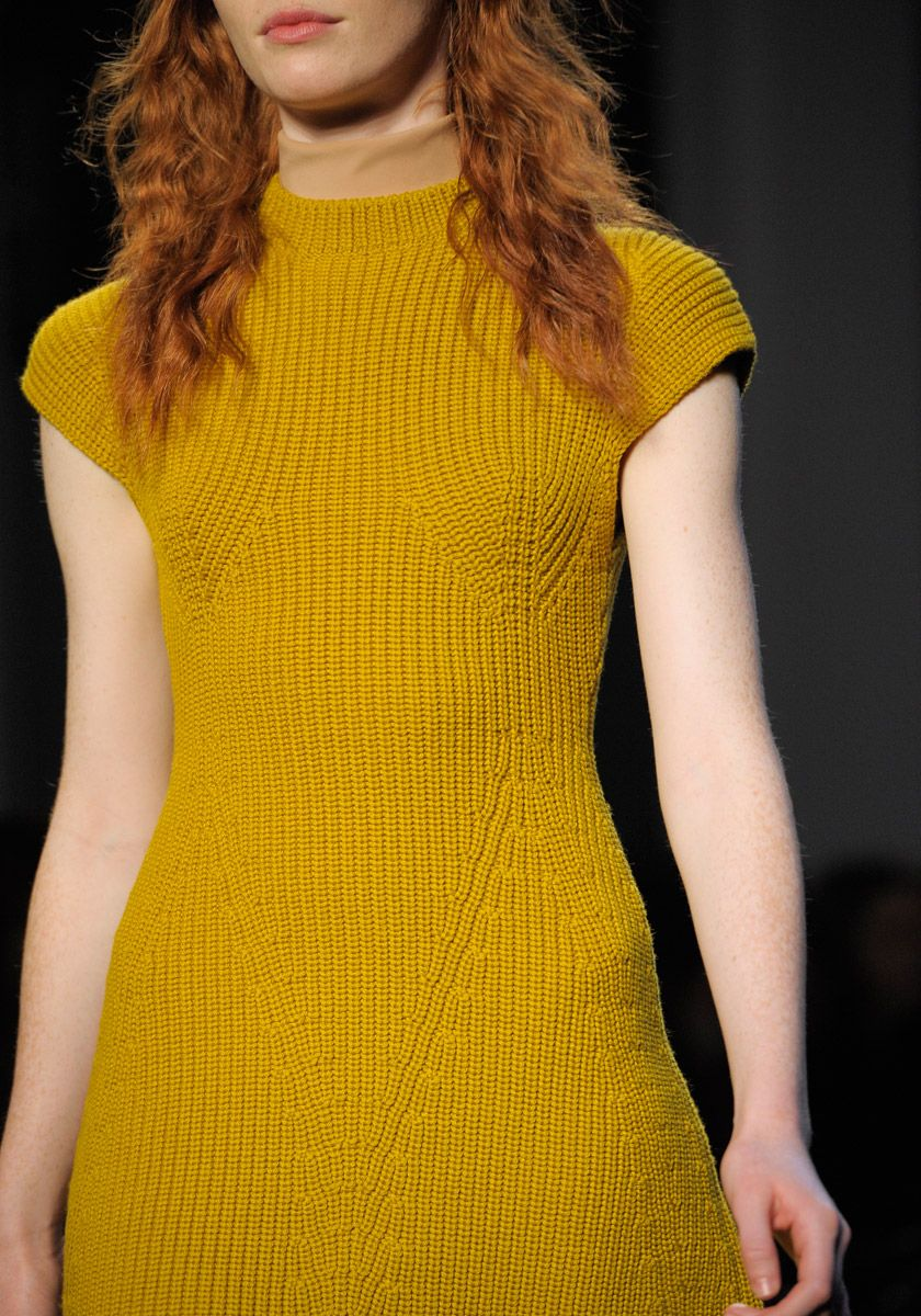 Full figure shaping on this knitted dress from Carven Fall 2012 RTW.
