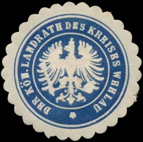 Siegelmarke Der königliche Landrath des Kreises Wehlau, Wehlau/Ostpreußen