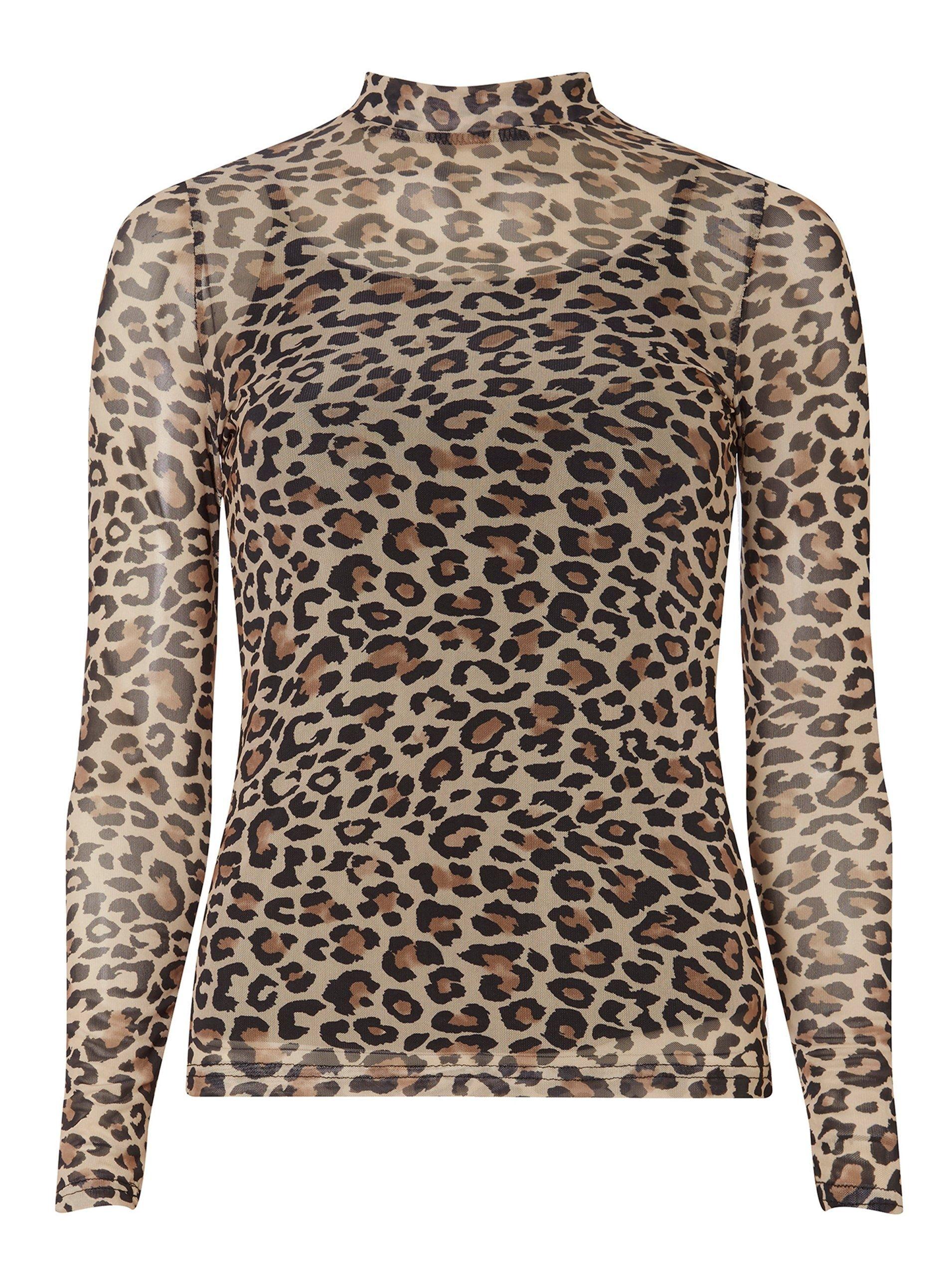 99d49858a613 Leopard Print Mesh Top in 2019 | My Designs! | Tops, Cheetah print ...
