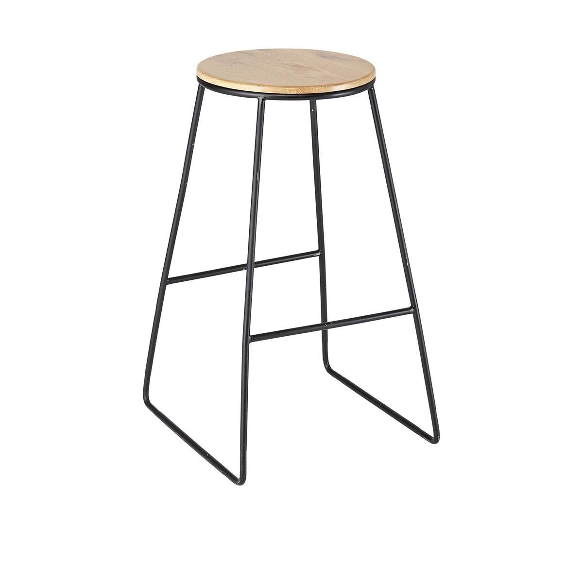 Black Industrial Stool  Kmart would be good plant stand on deck