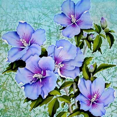 Leonard thompson silk painting silk painting pinterest silk silk paintings of colourful flowers for all seasons mightylinksfo