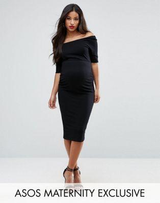 ASOS Maternity Bardot Dress With Half Sleeve
