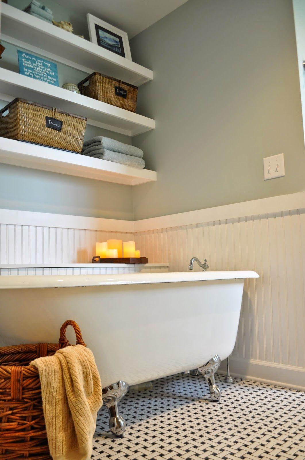 Benjamin Moore Quiet Moments classic light blue bathroom with ...