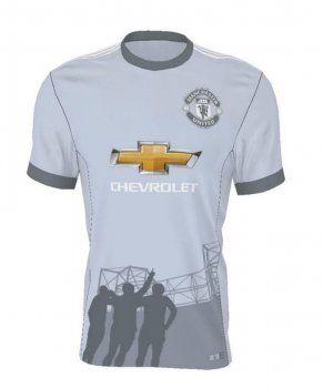 d2383d89bcc Manchester United 2017-18 Season Grey Third Man Utd Shirt  J725 ...