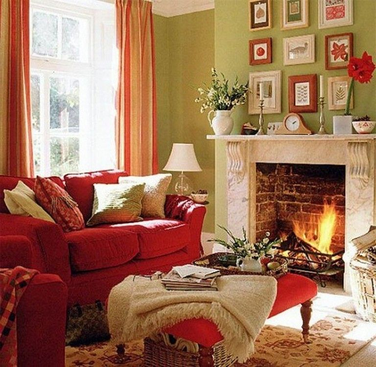 exciting red blue living room ideas | 25+ Exciting Fall Living Room Design & Decor Ideas # ...