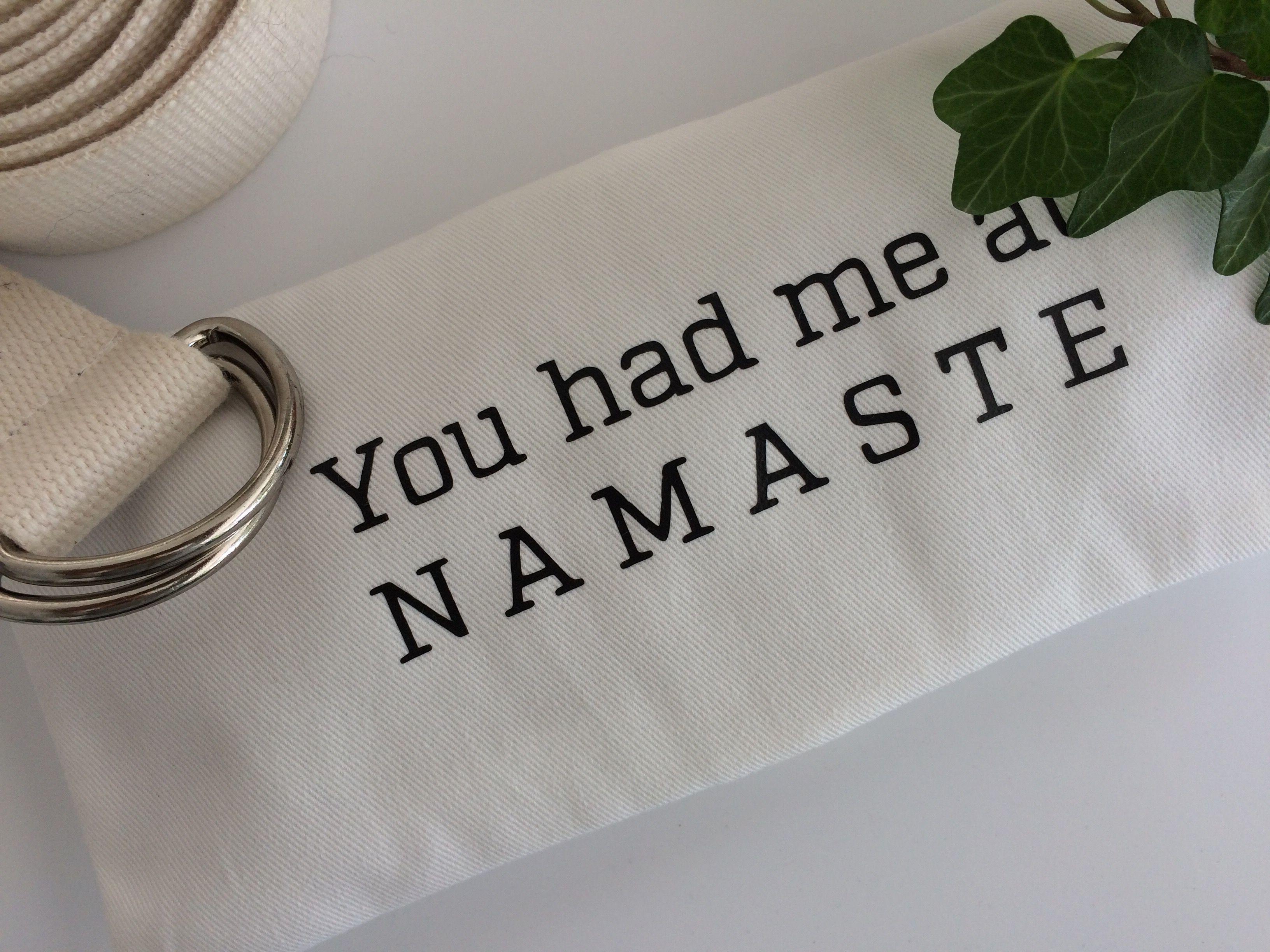 Eye pillow you had me at namaste white pillows