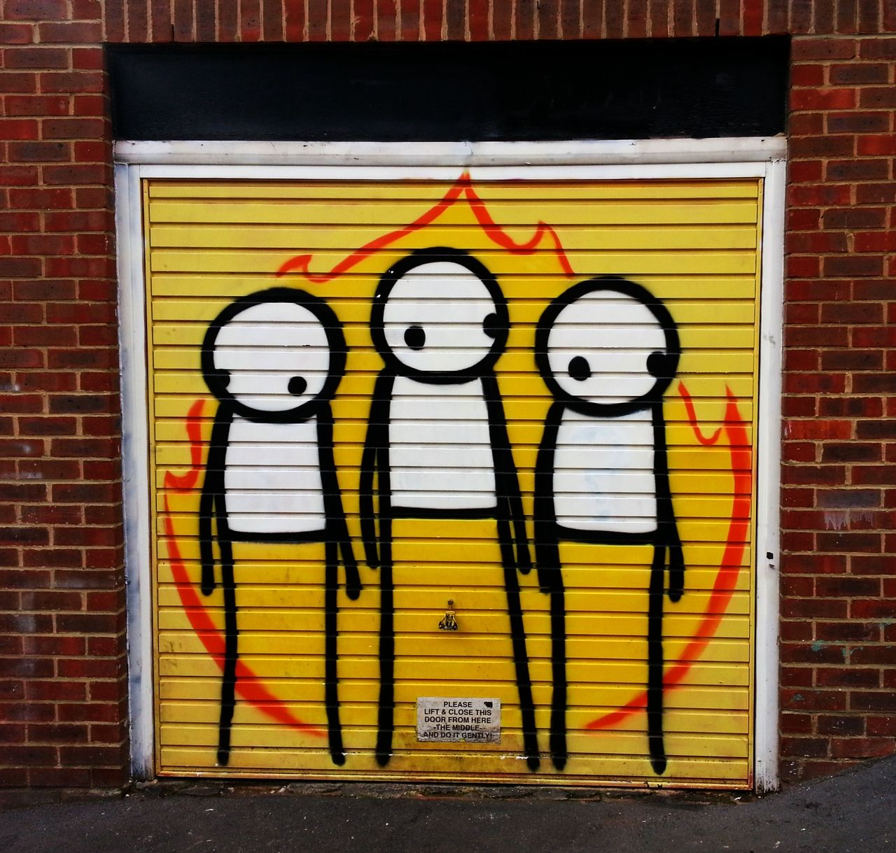 Garage Door Clapton - spray can characters by what's his face