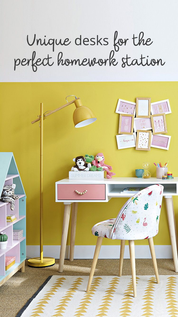 Industrial Study Room: Kids Study Desk, Toddler Desk, Kid Desk