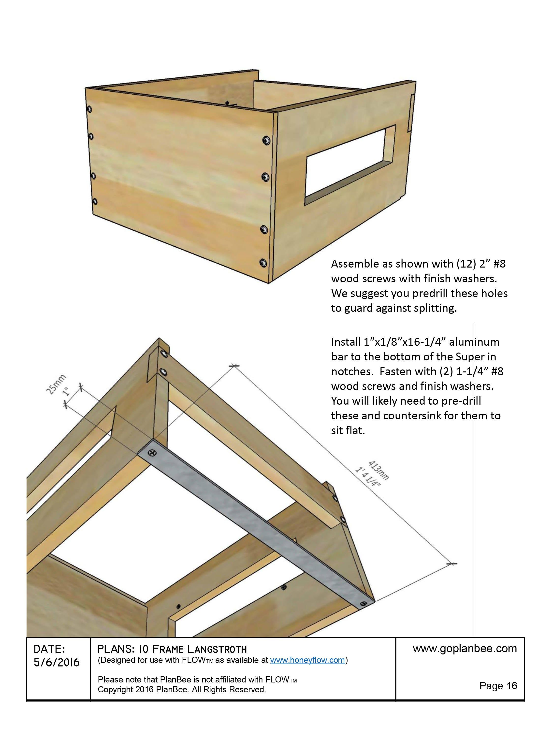 Diy Flow Beehive Box Plans Langstroth 10 Frame Beekeeping Etsy Flow Hive Flow Hive Plans Bee Hive