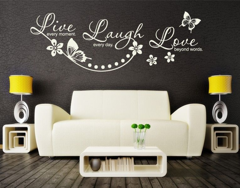 Live #Laugh #Love Wanddesign   Wandtattoos   Wandzitate - wanddesign
