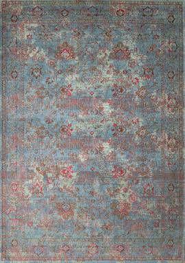 Orientteppich Muster Gefarbt Gewebt Blau Beige Rot Vintage