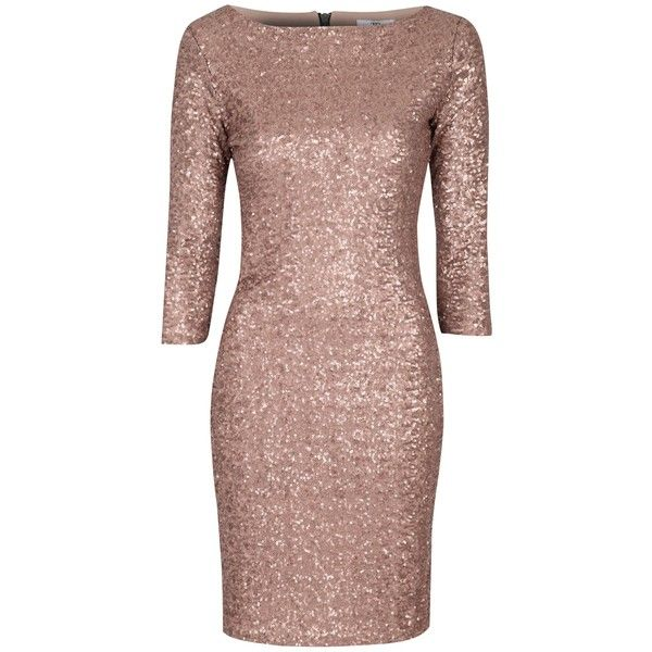 True Decadence Sequin Bodycon Dress , Rose Gold ($98) ❤ liked on ...