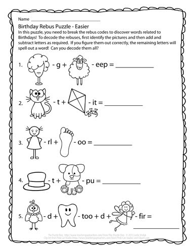 Perplexing Puzzles 1/28/15 | Filler Worksheets | Rebus ...