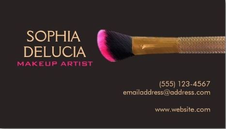 Elegant professional makeup artist gold pink makeup brush business a collection of chic and stylish cosmetology business cards for the professional cosmetologist or makeup artist reheart Image collections