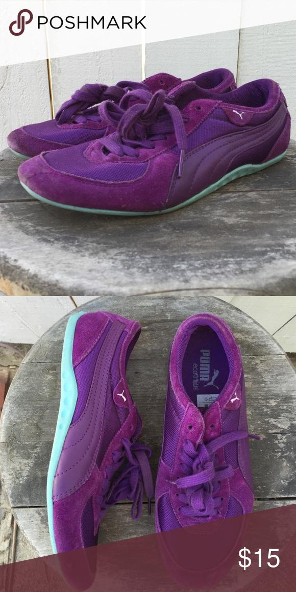 90d2219661f29f Puma EcoOrtholite Sports Shoes Purple and teal Puma sports shoes. Worn  once