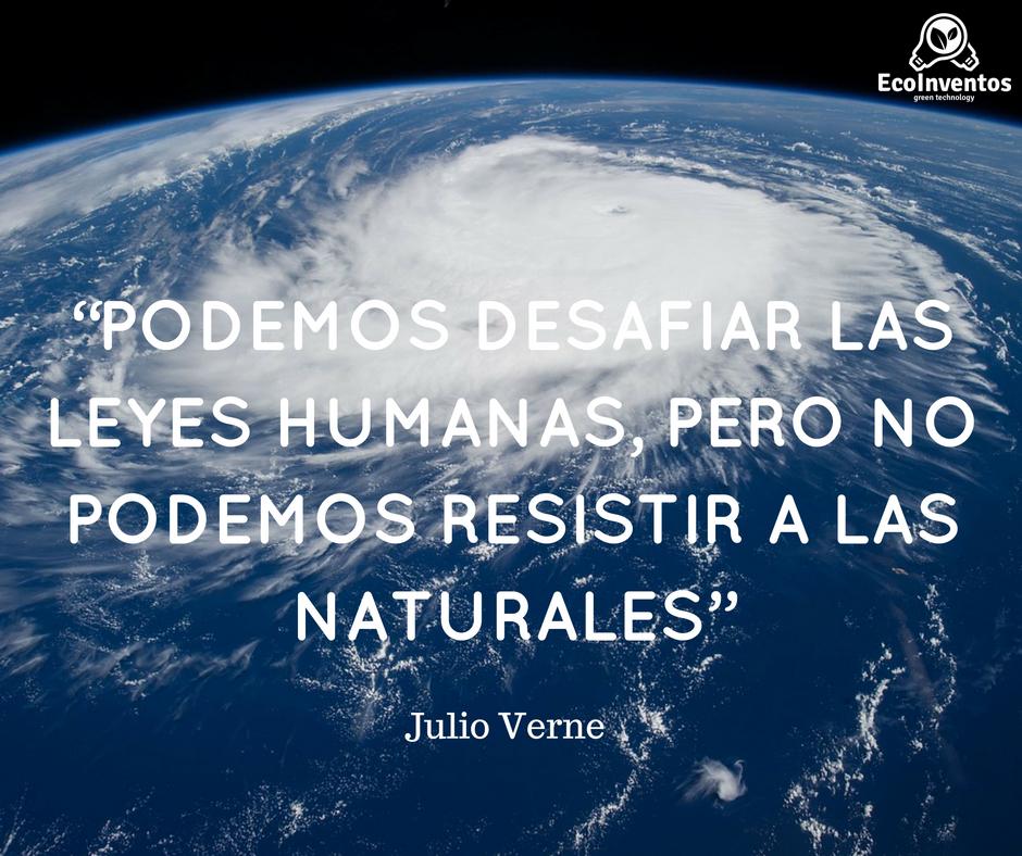 Podemos desafiar las leyes humanas, pero no podemos resistir a las naturales.