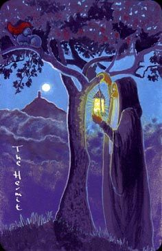 This Hermit reminds me of Odilon Redon's painting, The Buddha. Beautiful coloration that lends a mystical quality.