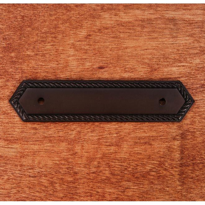 This Oil Rubbed Bronze Finish Cabinet Pull Backplate With Rope Edge Design  From RK International Is