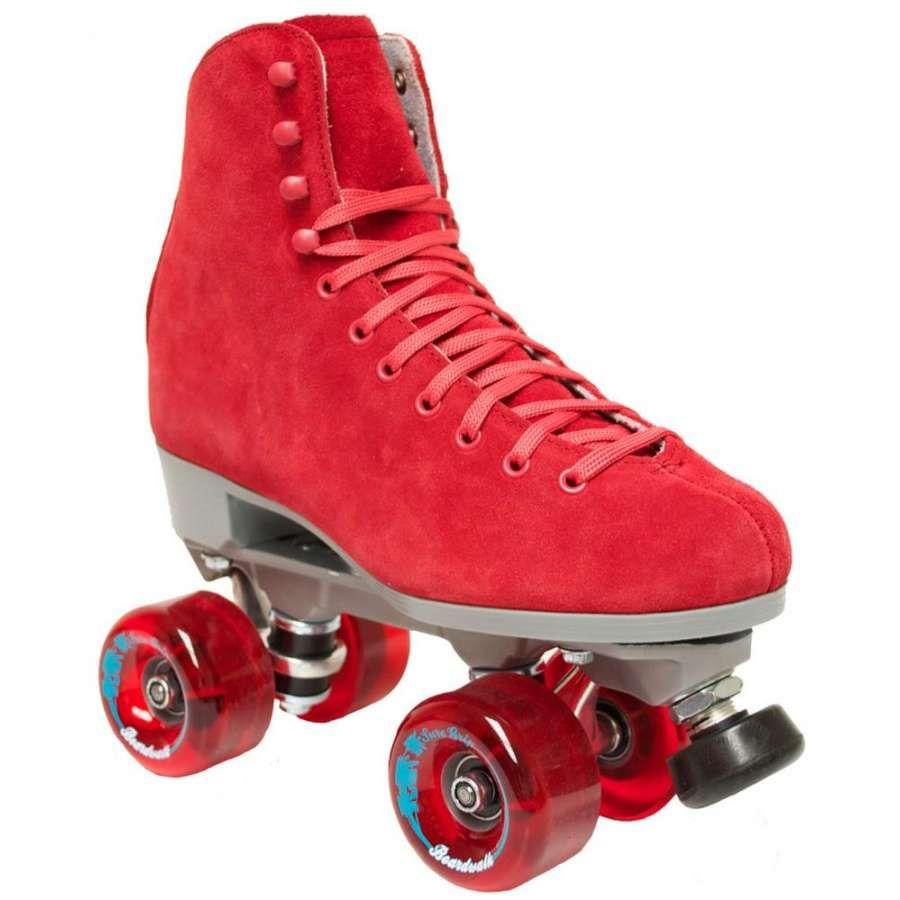 Roller skates red - Shop Online For Suregrip Boardwalk Quad Skate Bordeaux Red At Skates Co Uk