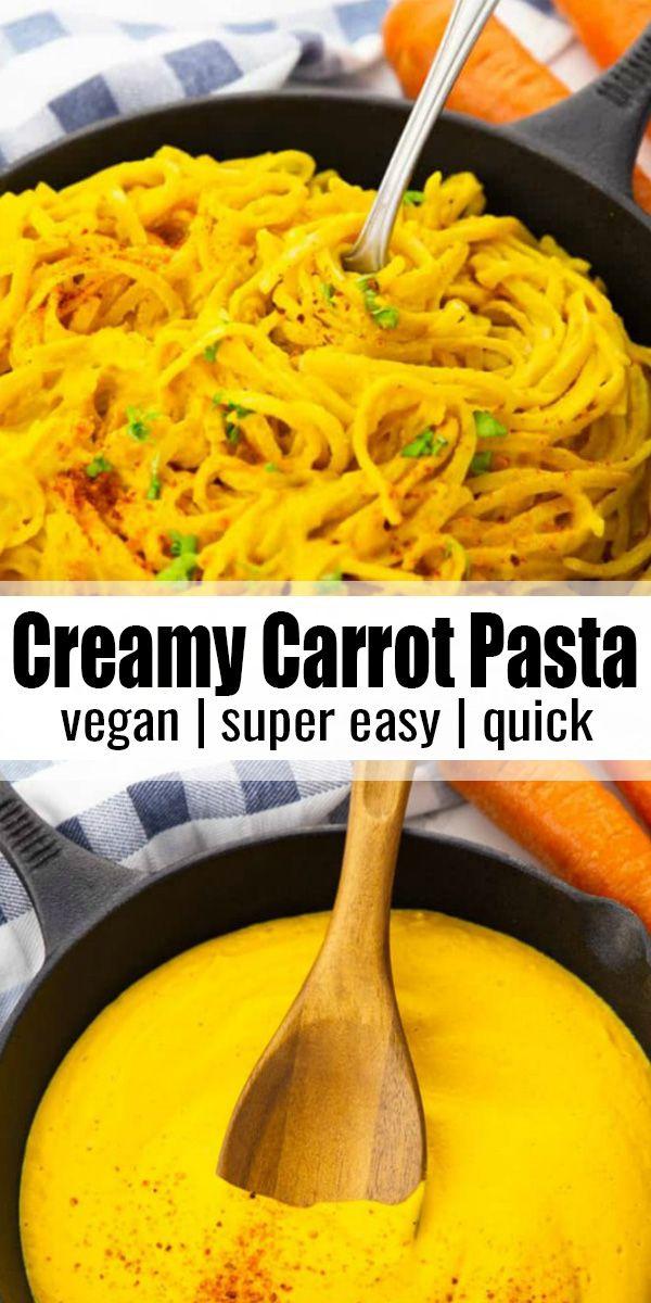 Creamy Carrot Pasta  #weeknightdinners