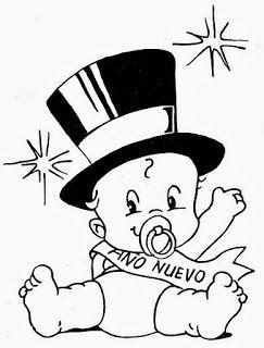 Dibujos De Año Nuevo Para Colorear Dibujos Para Niños Feliz Año