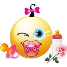 baby girl emoji faces
